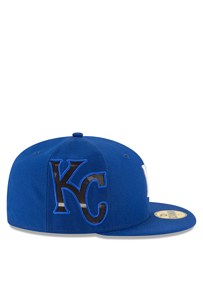 New Era Kansas City Royals Mens Blue Heather Fresh Fit 59FIFTY Fitted Hat - Image 2