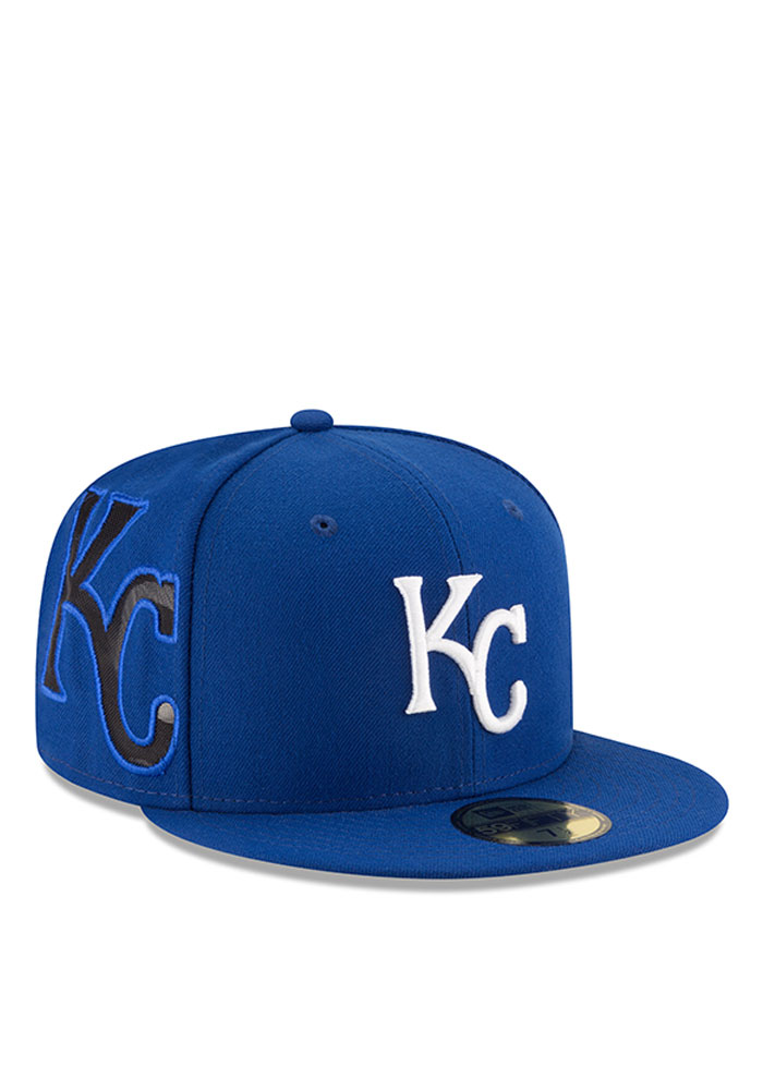 New Era Kansas City Royals Mens Blue Heather Fresh Fit 59FIFTY Fitted Hat - Image 3