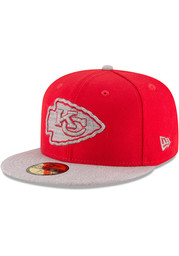 KC Chiefs New Era Mens Red Heather Fresh Fit 59FIFTY Fitted Hat