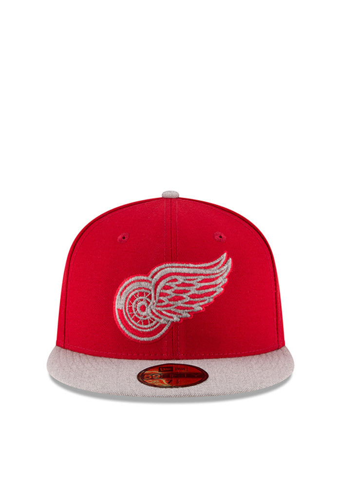 New Era Detroit Red Wings Mens Red Heather Fresh Fit 59FIFTY Fitted Hat - Image 2