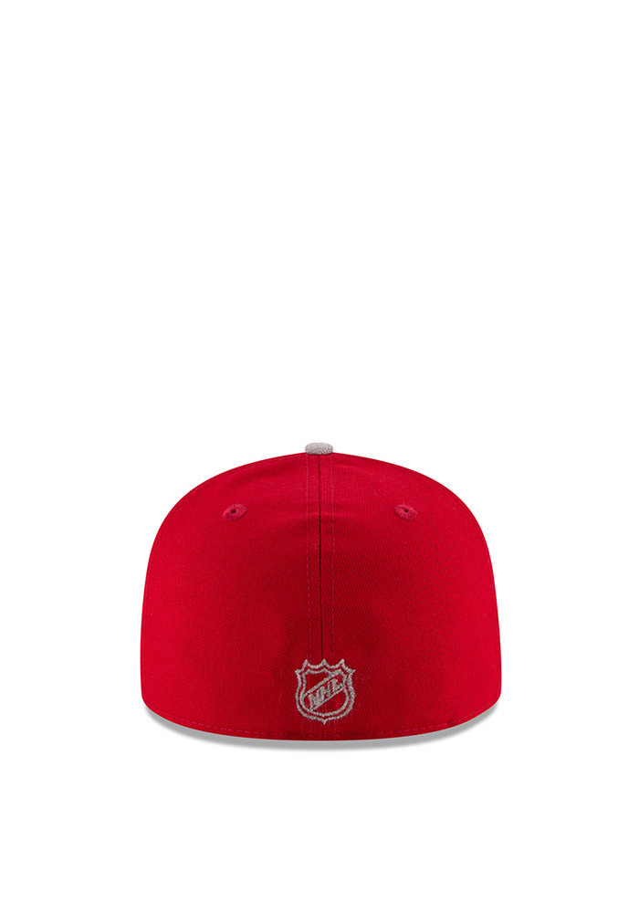 New Era Detroit Red Wings Mens Red Heather Fresh Fit 59FIFTY Fitted Hat - Image 3