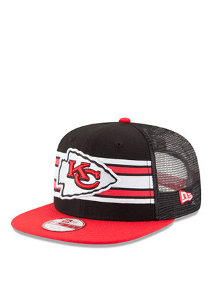 New Era KC Chiefs Red Throwback Stripe 9FIFTY Snapback Hat