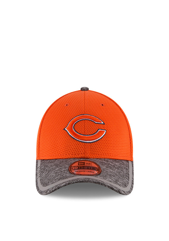 New Era Chicago Bears Mens Orange 2016 Training Camp Official 39THIRTY Flex Hat - Image 2