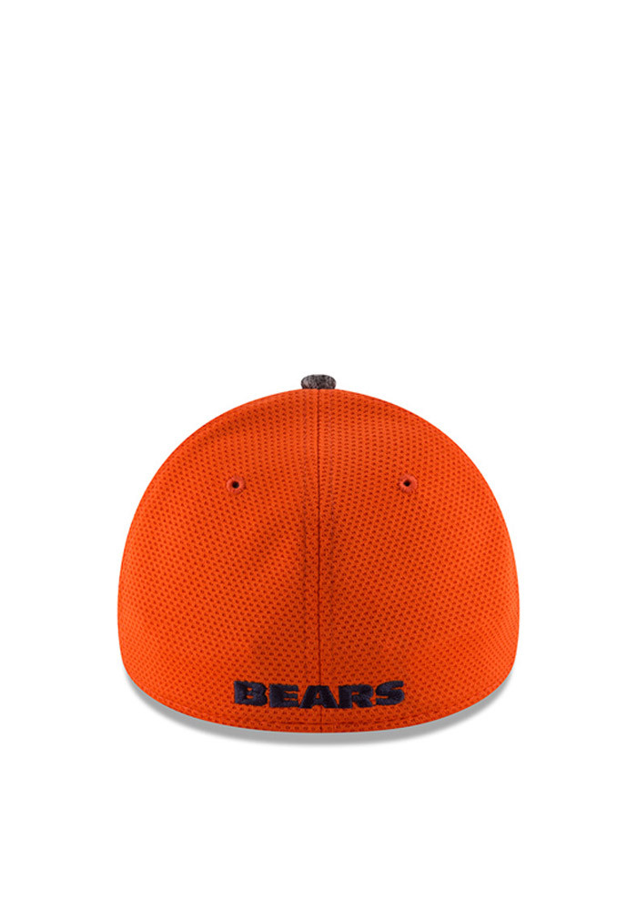 New Era Chicago Bears Mens Orange 2016 Training Camp Official 39THIRTY Flex Hat - Image 3