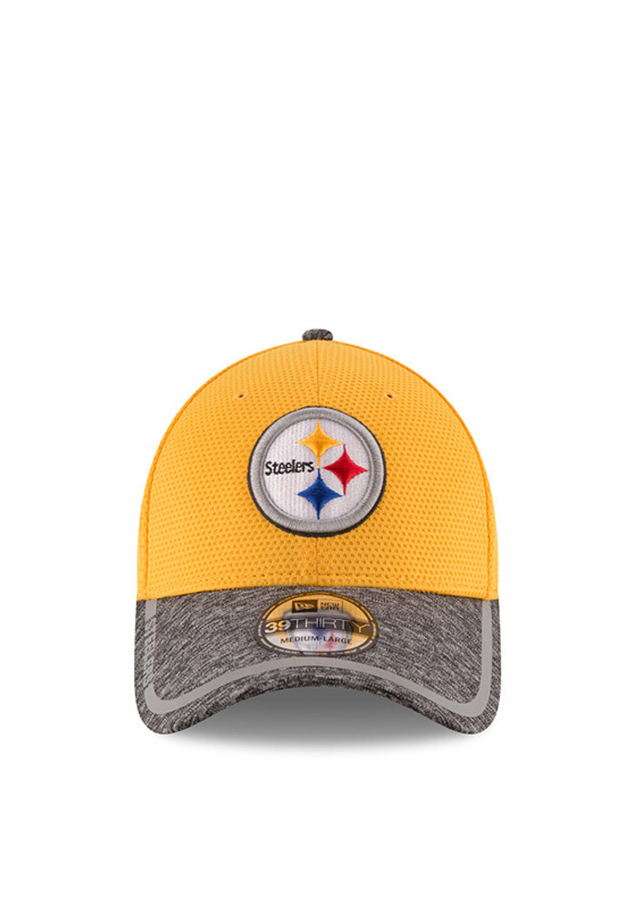 New Era Pittsburgh Steelers Mens Gold 2016 Training Camp Official 39THIRTY Flex Hat - Image 2