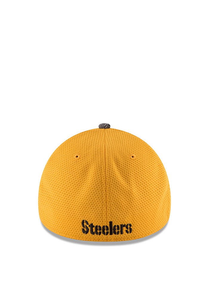 New Era Pittsburgh Steelers Mens Gold 2016 Training Camp Official 39THIRTY Flex Hat - Image 3