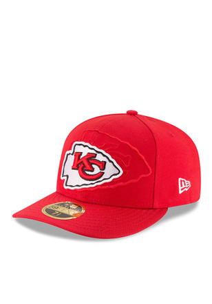 new style b54ef 00bad Kansas City Chiefs New Era Red 2016 Sideline Official Low Profile 59FIFTY  Fitted Hat