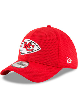 New Era Kansas City Chiefs Mens Red Sideline Tech 39THIRTY Flex Hat