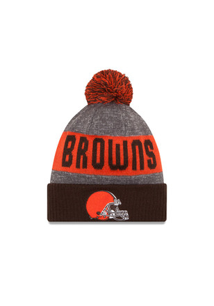 New Era Cleveland Browns Brown 2016 Official Sport Knit Hat