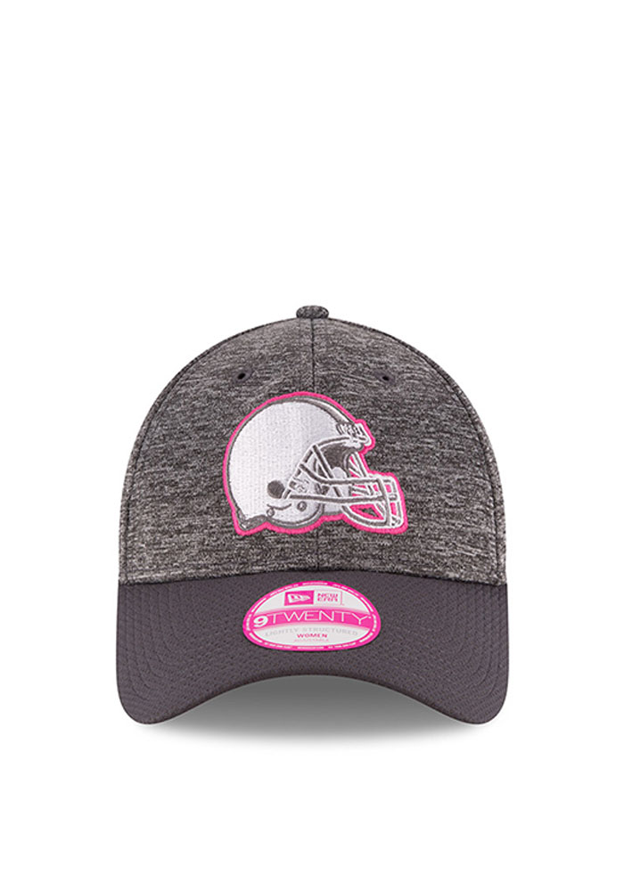 New Era Cleveland Browns Grey 2016 BCA LS 9TWENTY Womens Adjustable Hat - Image 2