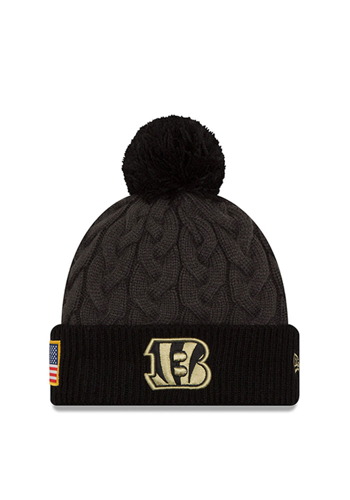 New Era Cincinnati Bengals Black 2016 STS Womens Knit Hat - Image 1