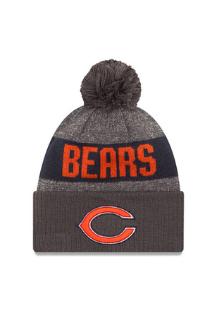 New Era Chicago Bears Grey Team Youth Knit Hat