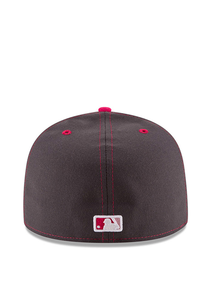 New Era Cincinnati Reds Mens Grey 2016 Mothers Day 59FIFTY Fitted Hat - Image 5
