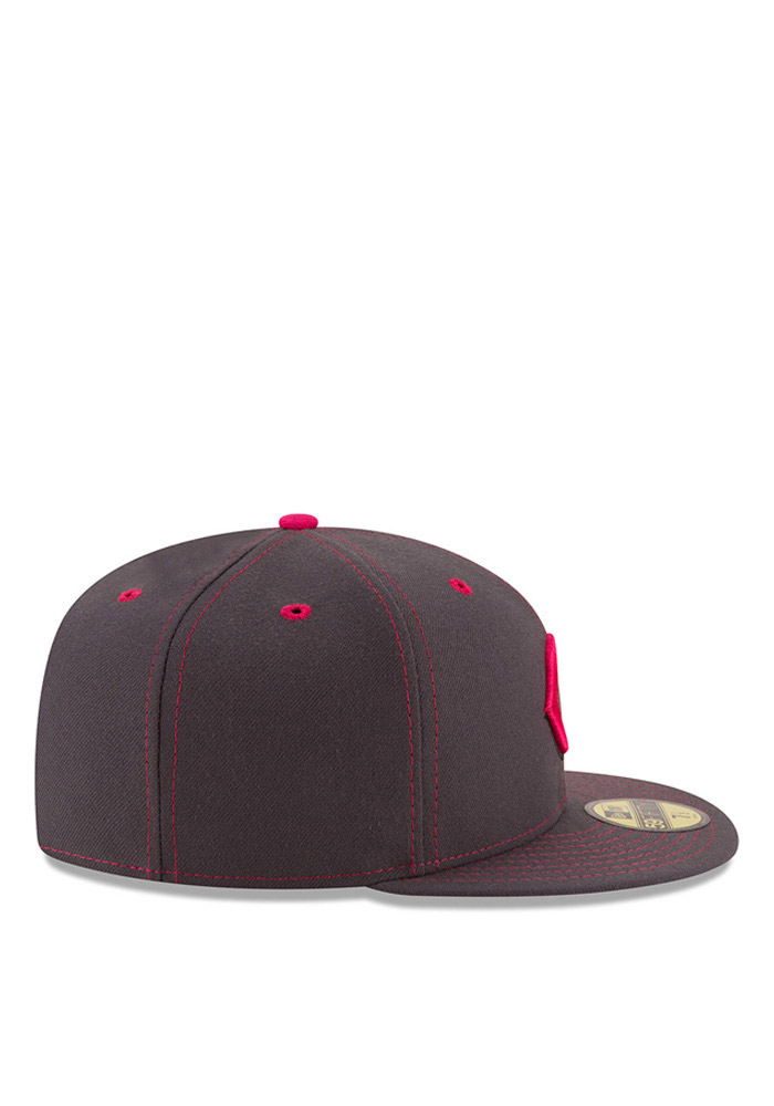 New Era Cincinnati Reds Mens Grey 2016 Mothers Day 59FIFTY Fitted Hat - Image 6