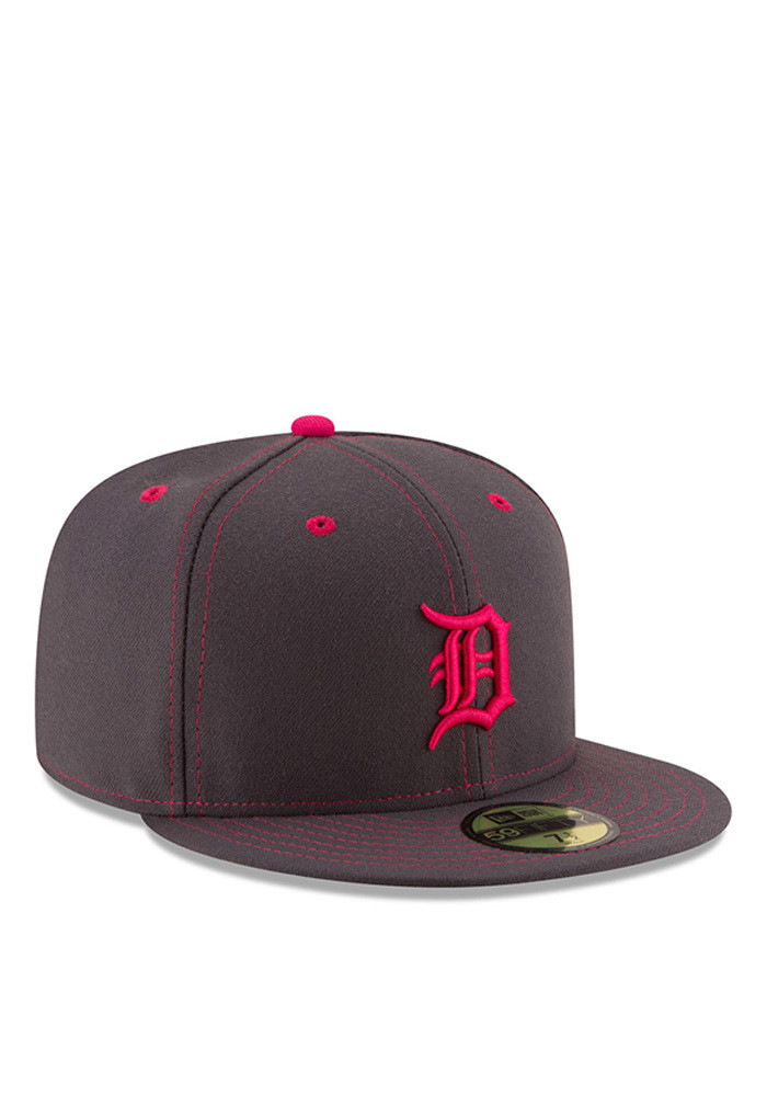 New Era Detroit Tigers Mens Grey 2016 Mothers Day 59FIFTY Fitted Hat - Image 2