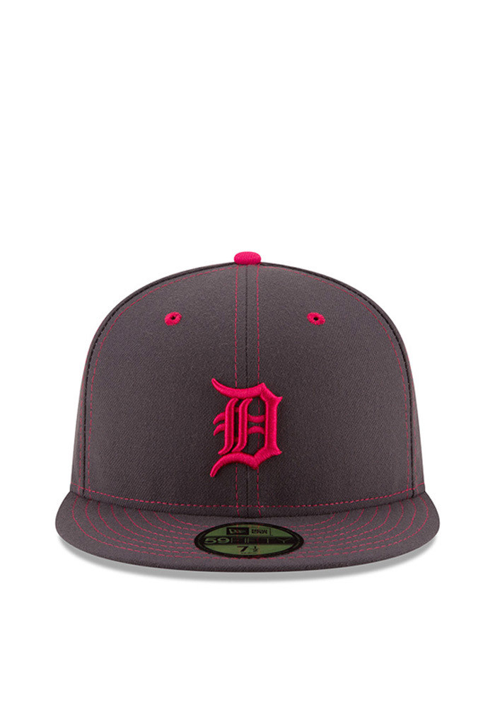New Era Detroit Tigers Mens Grey 2016 Mothers Day 59FIFTY Fitted Hat - Image 3