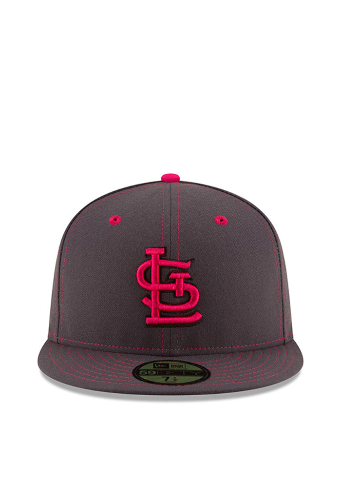 buy popular fa3ab f83b2 New Era St Louis Cardinals Mens Grey 2016 Mothers Day 59FIFTY Fitted Hat -  Image 3