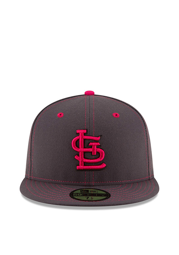 New Era St Louis Cardinals Mens Grey 2016 Mothers Day 59FIFTY Fitted Hat - Image 3