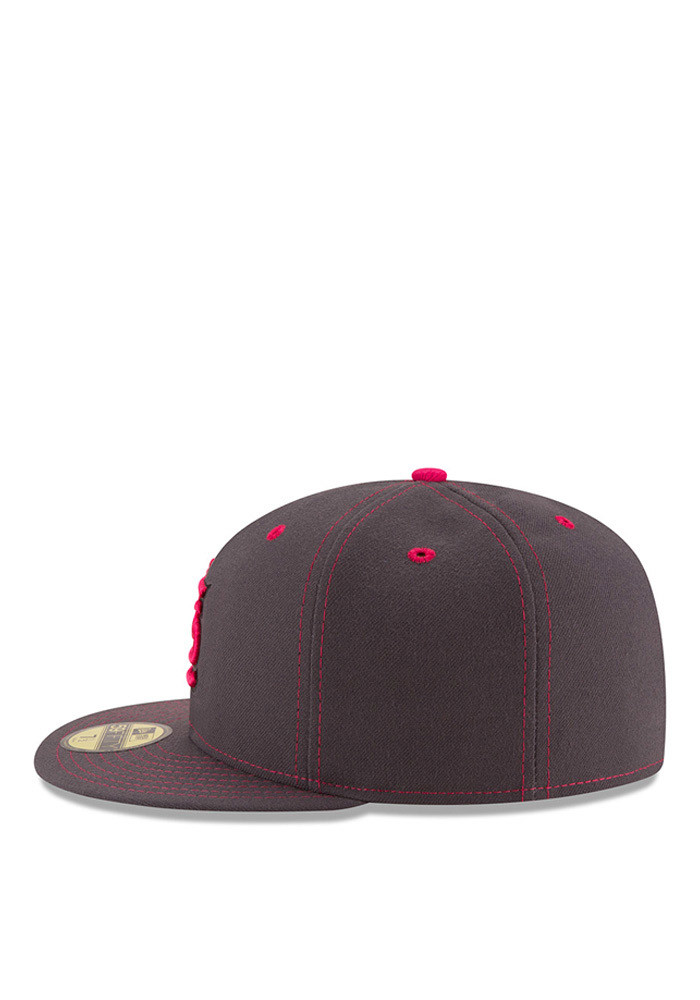 New Era St Louis Cardinals Mens Grey 2016 Mothers Day 59FIFTY Fitted Hat - Image 4