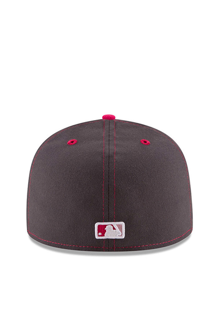 New Era St Louis Cardinals Mens Grey 2016 Mothers Day 59FIFTY Fitted Hat - Image 5