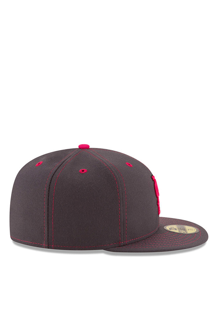 New Era St Louis Cardinals Mens Grey 2016 Mothers Day 59FIFTY Fitted Hat - Image 6