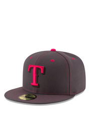 Texas New Era Mens Gray 2016 Mothers Day 59FIFTY Fitted Hat