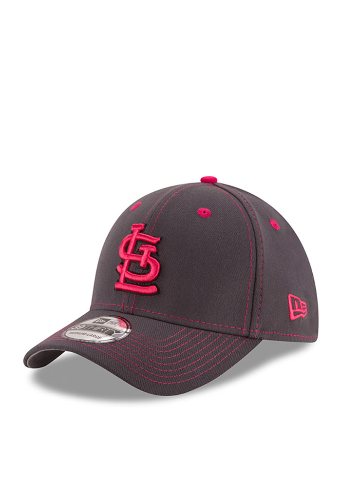 New Era St Louis Cardinals Mens Grey 2016 Mothers Day 39THIRTY Flex Hat - Image 1