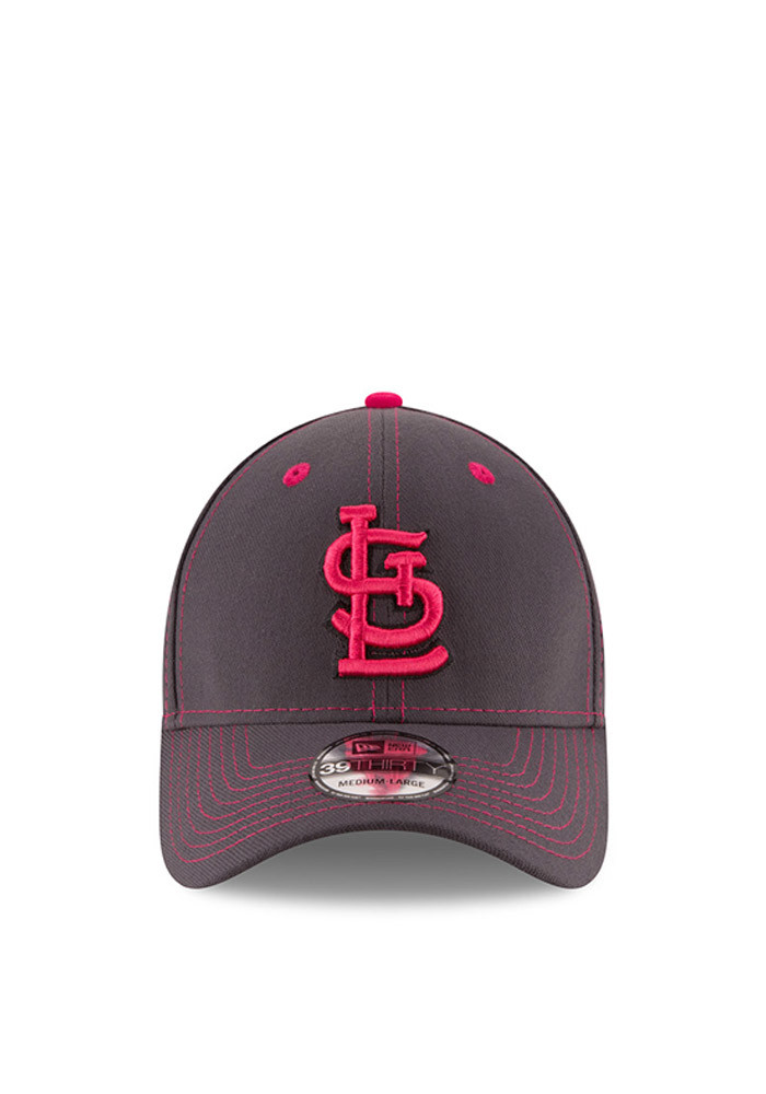 New Era St Louis Cardinals Mens Grey 2016 Mothers Day 39THIRTY Flex Hat - Image 2