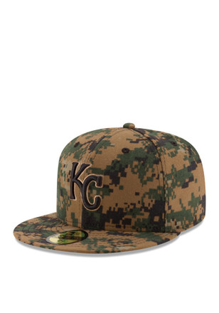 Kansas City Royals New Era Mens Green 2016 Memorial Day 59FIFTY Fitted Hat