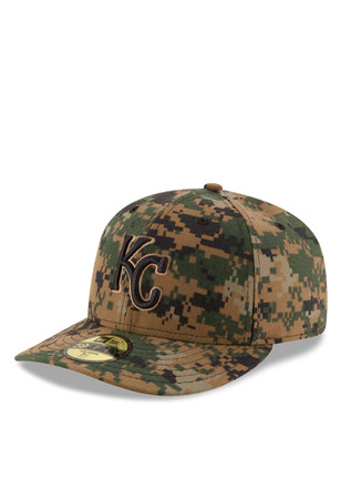 Kansas City Royals New Era Mens Green 2016 Memorial Day Low Profile 59FIFTY Fitted Hat