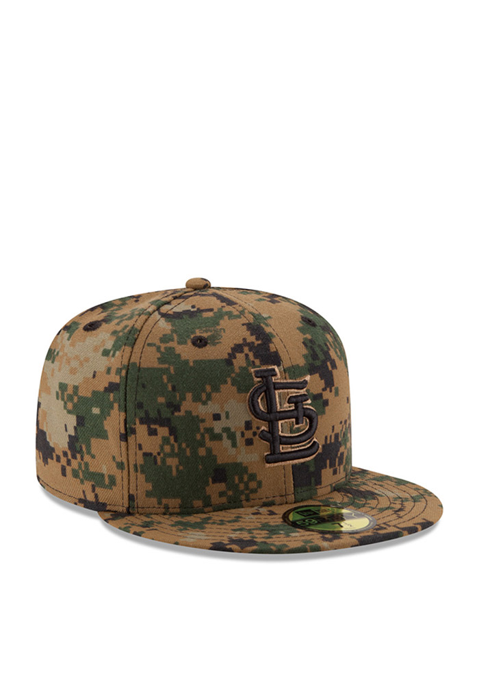 New Era St Louis Cardinals Mens Green 2016 Memorial Day 59FIFTY Fitted Hat - Image 2