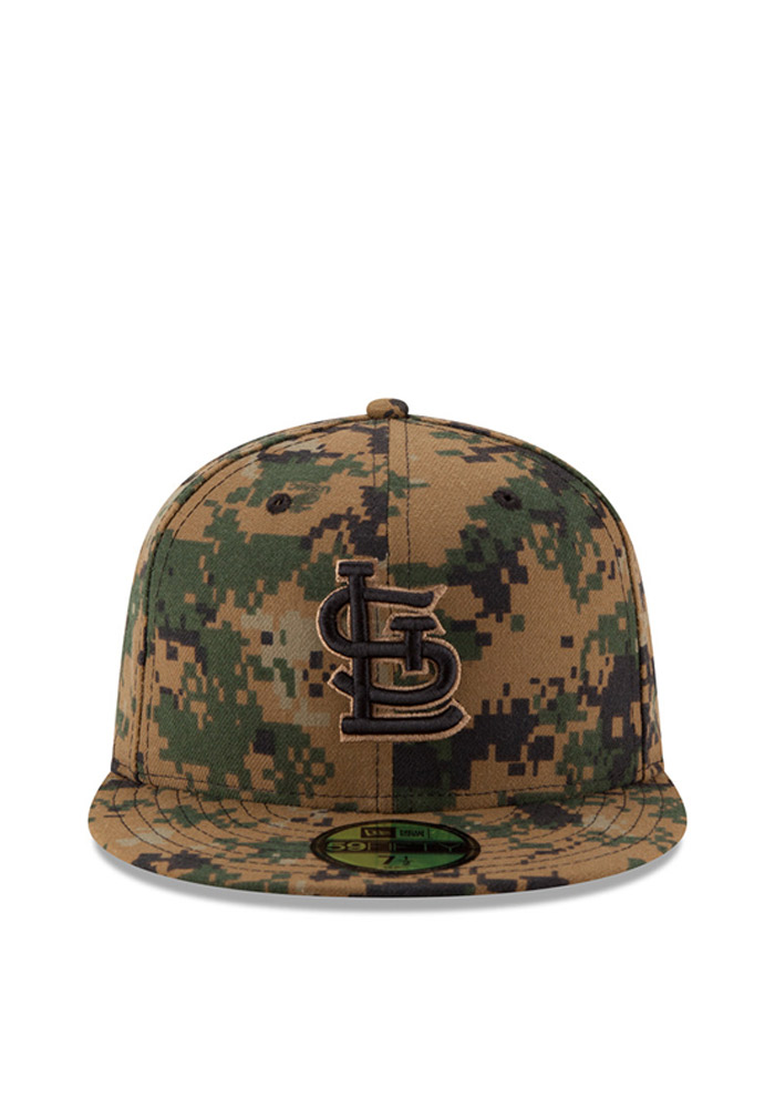New Era St Louis Cardinals Mens Green 2016 Memorial Day 59FIFTY Fitted Hat - Image 3