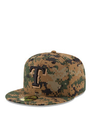 Texas New Era Mens Green 2016 Memorial Day 59FIFTY Fitted Hat