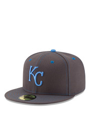 KC Royals New Era Mens Grey 2016 Fathers Day 59FIFTY Fitted Hat