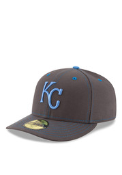 KC Royals New Era Mens Grey 2016 Fathers Day Low Profile 59FIFTY Fitted Hat