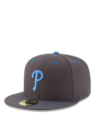 Philadelphia Phillies New Era Mens Grey 2016 Fathers Day 59FIFTY Fitted Hat