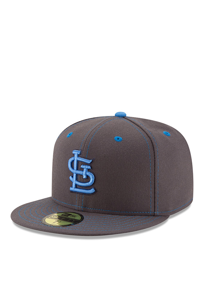 brand new b6f03 87f24 ... discount code for st louis cardinals new era grey 2016 fathers day  59fifty fitted hat 2af1c