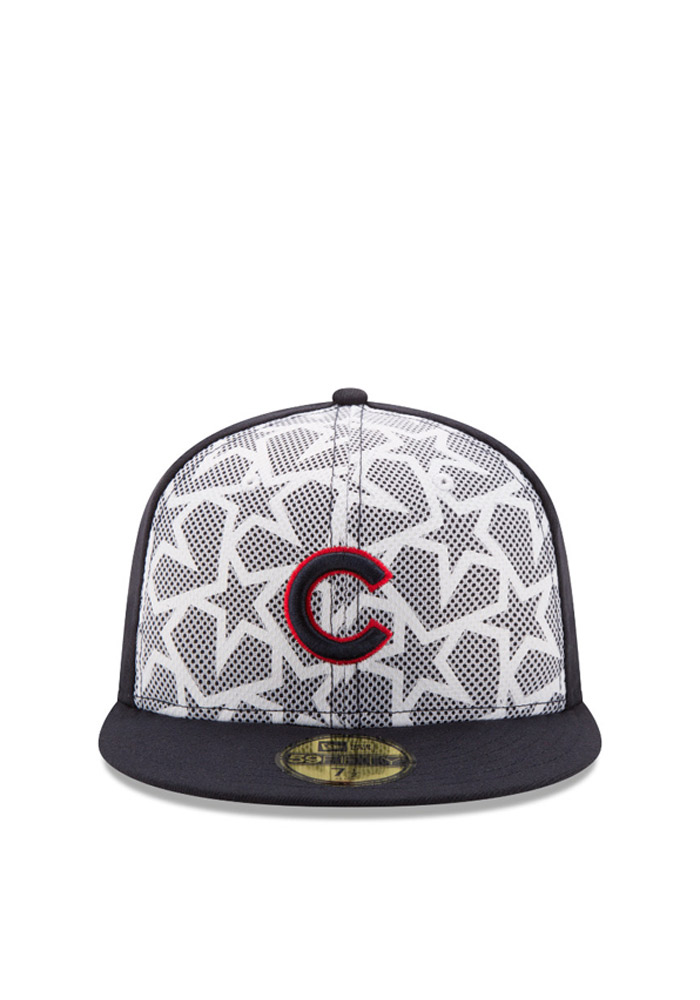 New Era Chicago Cubs Mens Navy Blue 2016 4th of July 59FIFTY Fitted Hat - Image 2