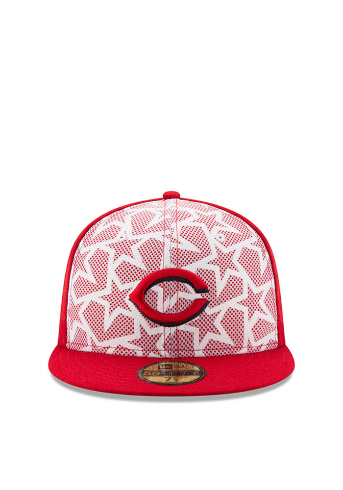 New Era Cincinnati Reds Mens Red 2016 4th of July 59FIFTY Fitted Hat - Image 2