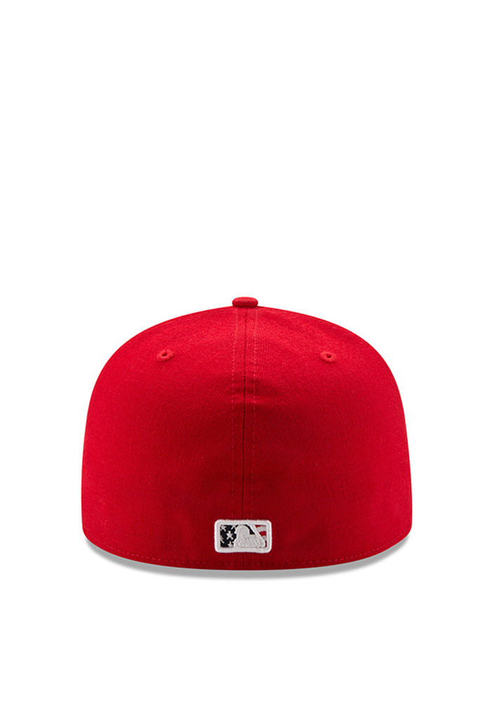 New Era Cincinnati Reds Mens Red 2016 4th of July 59FIFTY Fitted Hat - Image 3