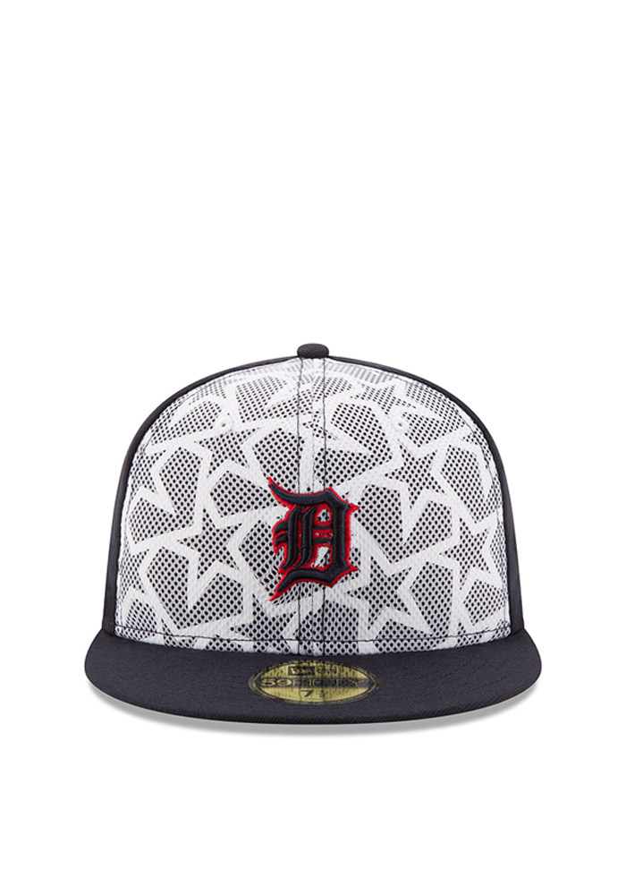 New Era Detroit Tigers Mens Navy Blue 2016 4th of July 59FIFTY Fitted Hat - Image 2