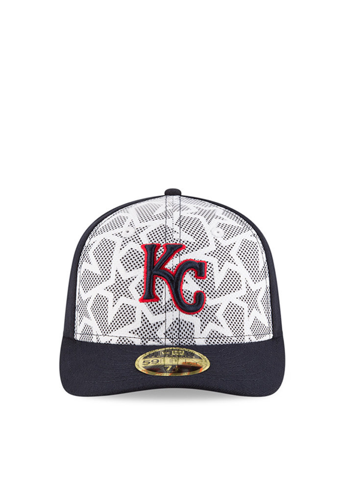 New Era Kansas City Royals Mens Navy Blue 2016 4th of July Low Profile 59FIFTY Fitted Hat - Image 2