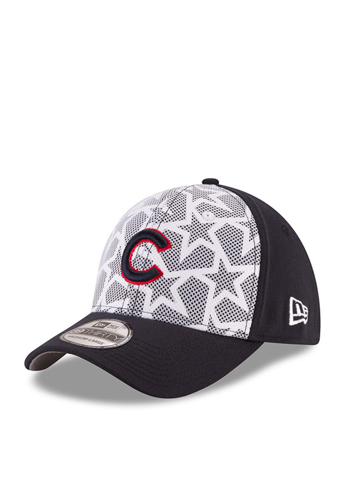 New Era Chicago Cubs Mens Red 2016 4th of July 39THIRTY Flex Hat - Image 1
