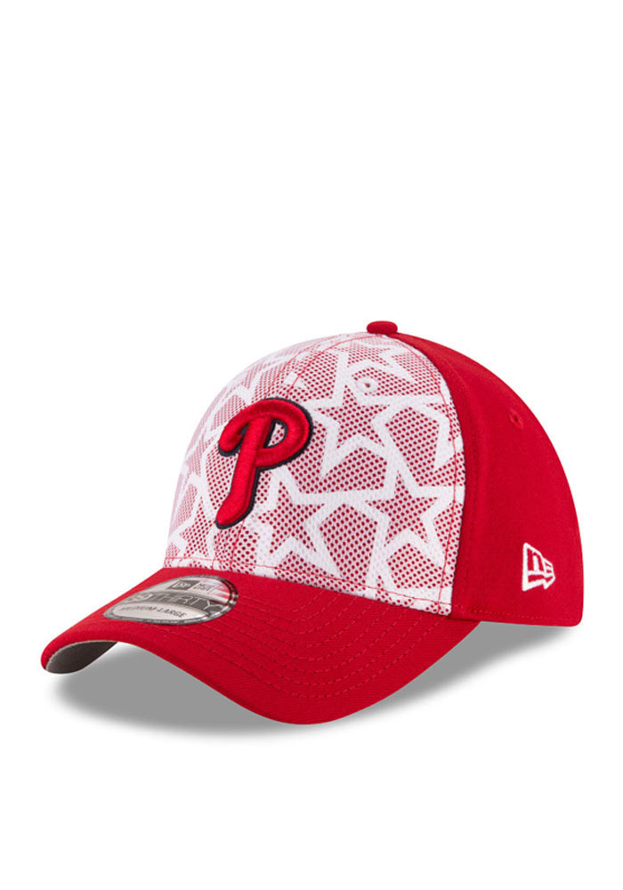 New Era Philadelphia Phillies Mens Red 2016 4th of July 39THIRTY Flex Hat - Image 1