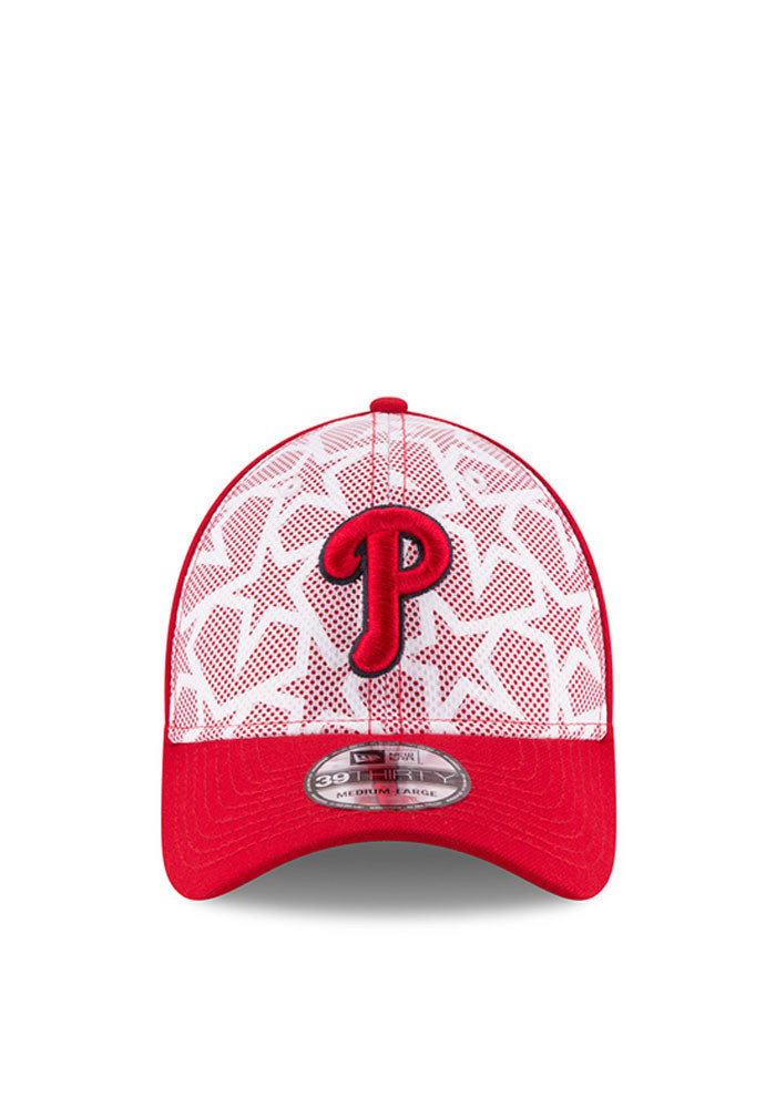 New Era Philadelphia Phillies Mens Red 2016 4th of July 39THIRTY Flex Hat - Image 2