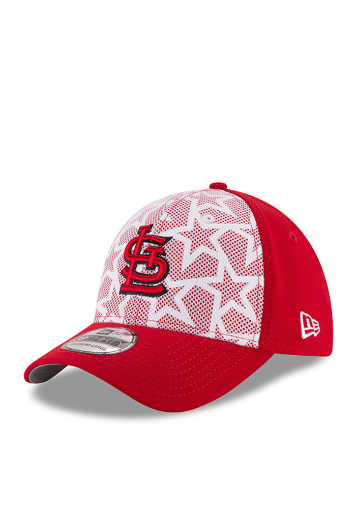 New Era St Louis Cardinals Mens Red 2016 4th of July 39THIRTY Flex Hat - Image 1