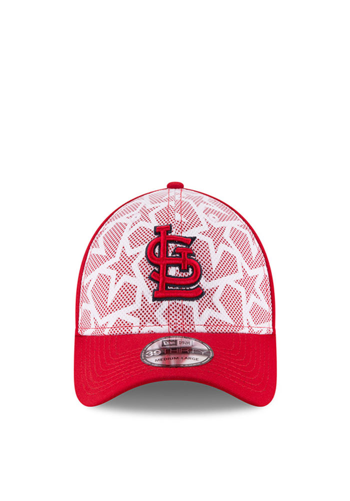 New Era St Louis Cardinals Mens Red 2016 4th of July 39THIRTY Flex Hat - Image 2