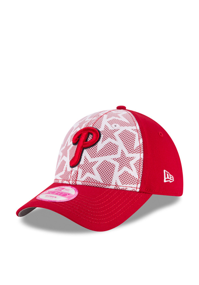 New Era Philadelphia Phillies Red 2016 4th of July 9FORTY Womens Adjustable Hat - Image 1