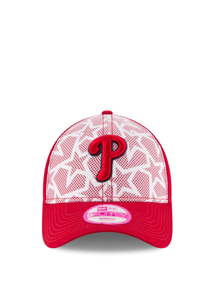 New Era Philadelphia Phillies Red 2016 4th of July 9FORTY Womens Adjustable Hat - Image 2