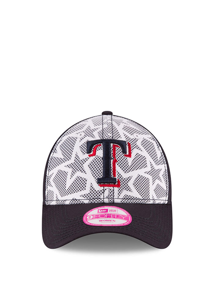 New Era Texas Rangers Navy Blue 2016 4th of July 9FORTY Womens Adjustable Hat - Image 1
